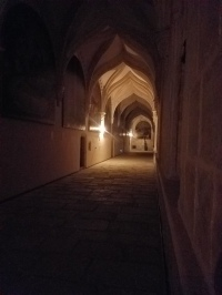 Cloister at night